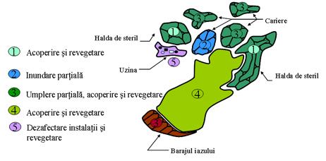 Zonele ce vor fi reabilitate